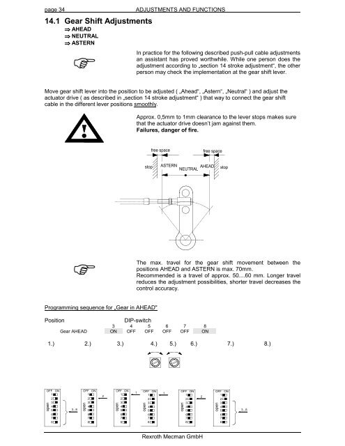 page 34 ADJUSTMENTS AND F