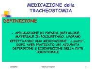 MEDICAZIONE della TRACHEOSTOMIA DEFINIZIONE - Ipasvi