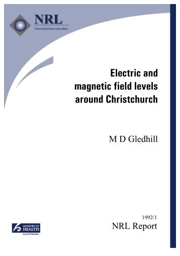 Electric and magnetic field levels around Christchurch (PDF - 300 kB)