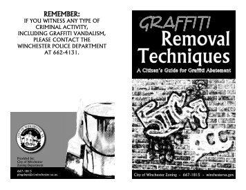 Graffiti Removal Techniques - City of Winchester, VA