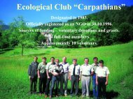 1 - The Carpathian EcoRegion Initiative