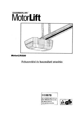 Felszerelési és használati utasítás