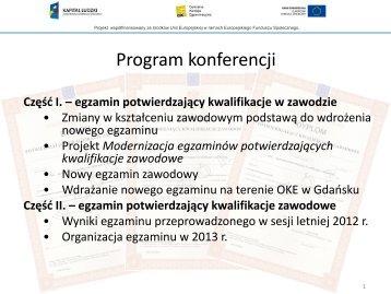 Egzaminy zawodowe - prezentacja - Zespół Szkół Mechanicznych ...