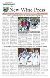 Volume 10 #4 - October, 2010 - Archdiocese of Winnipeg