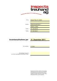 Muster Inventar für Jahresabschluss - Download (PDF) - Inspecta ...