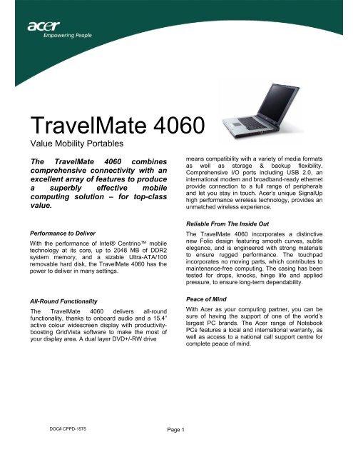 Acer TravelMate 4060 Modem Driver FREE