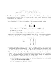 APPM 4/5560 Markov Chains Fall 2009, Some Review ... - cribME!