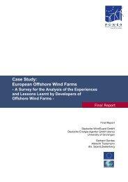 Case Study: European Offshore Wind Farms - A Survey