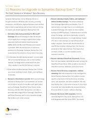 11 Reasons to Upgrade to Symantec Backup ... - Eval.veritas.com