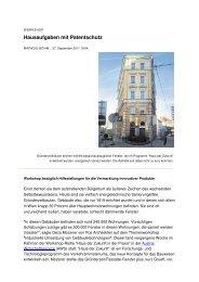 Der Standard über GRUEFF-Fenster, 9/2011 (PDF, 81 KB)