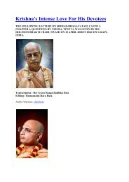Krishna's Intense Love For His Devotees - ebooks - ISKCON desire ...