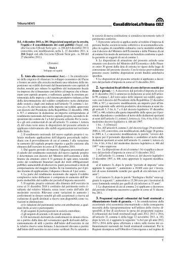 D.L. 6 dicembre 2011, n. 201 - La Tribuna