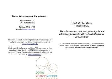 Børns Voksenvenner København Vi udvider hos Børns ...