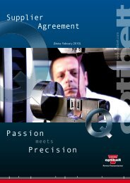 Passion Precision Supplier Agreement - Optibelt
