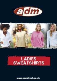 ladies sweatshirts - ADM Workwear