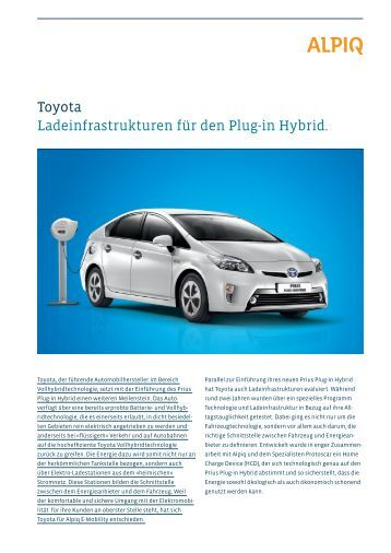 Partner Toyota: Factsheet PDF - Alpiq InTec