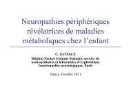 Neuropathies périphériques révélatrices de maladies métaboliques ...