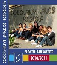 FELVÉTELI TÁJÉKOZTATÓ - Kodolányi János Főiskola