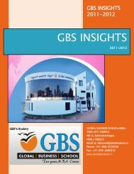 GBS INSIGHTS - Global Business School