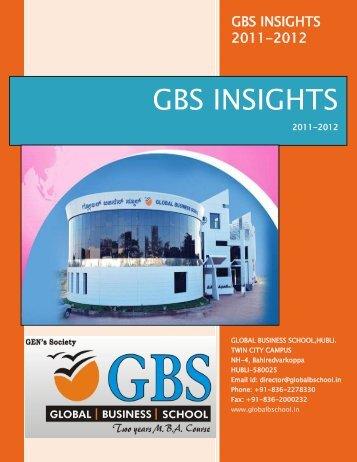 GBS INSIGHTS - Global Business School