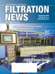 2010 Buyers' Guide • 2010 Buyers' Guide - Filtration News