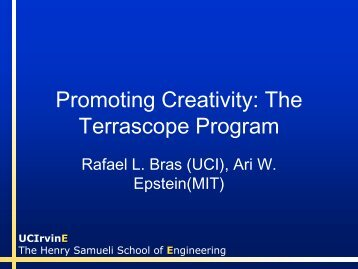 Promoting Creativity: The Terrascope Program
