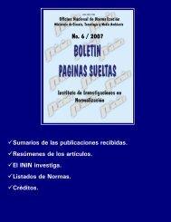 No. 6 / 2007 - Boletín Páginas Sueltas