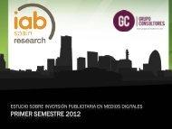 Inversión publicitaria en medios digitales - IAB Spain