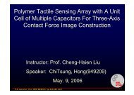 Polymer Tactile Sensing Array with A Unit Cell of Multiple Capacitors ...