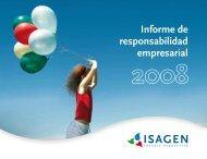 Informe de Responsabilidad Empresarial 2008 - Isagen