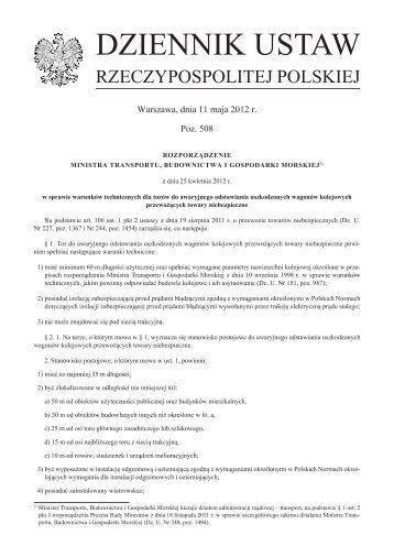 Rozporządzenie z dnia 25 kwietnia 2012 r. w sprawie warunków ...