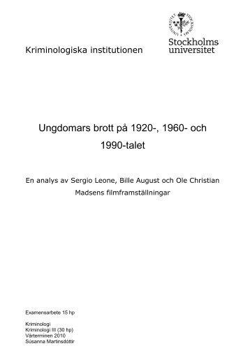 Ungdomars brott på 1920-, 1960- och 1990-talet (pdf)