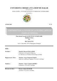 Contribution à l'étude de la filière lapin de chair au Sénégal - BEEP