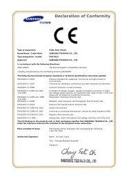 Declaration of Conformity…. - Samsung CCTV