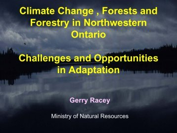The Challenge - Ontario Centre for Climate Impacts and Adaptation ...