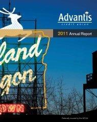 2011 Annual Report - Advantis Credit Union