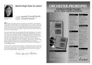 ORCHESTER-PROBESPIEL - Schott Music