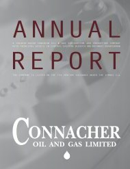 OIL AND GAS LIMITED - Connacher Oil and Gas