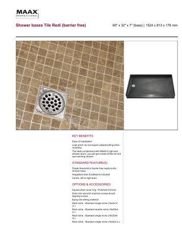 Shower Bases Tile Redi - Maax