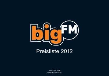 Preisliste 2012 - bigFM Radio