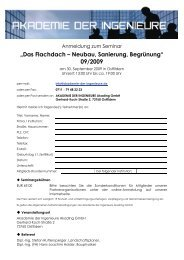 """""""Das Flachdach – Neubau, Sanierung, Begrünung"""" 09/2009"""