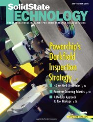 Solid State Technology - FreshTracks Capital