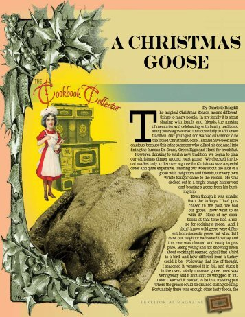 A Christmas Goose: The Cookbook Collector - Territorial Magazine