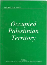The Occupied Palestinian Territory - PASSIA Online Store