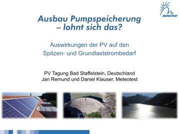 Ausbau Pumpspeicherung – lohnt sich das? - Top50-Solar Experts
