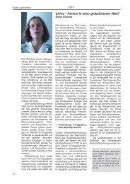 Doris Fischer: China – Partner in einer globalisierten Welt?