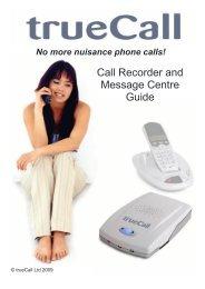 Call Recorder and Message Centre Guide - PMC Telecom