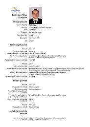 Curriculum Vitae Europass - USAMV Cluj-Napoca
