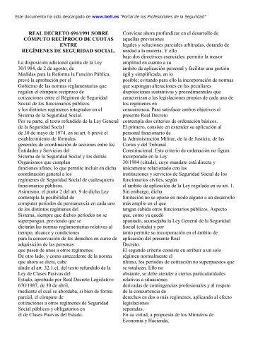 Real Decreto 691/1991, de 12 de abril