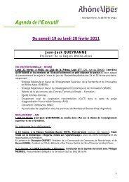 Agenda de l'Exécutif Du samedi 19 au lundi 28 février 2011 Jean ...